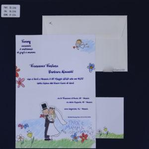 Biglietto d'invito matrimonio