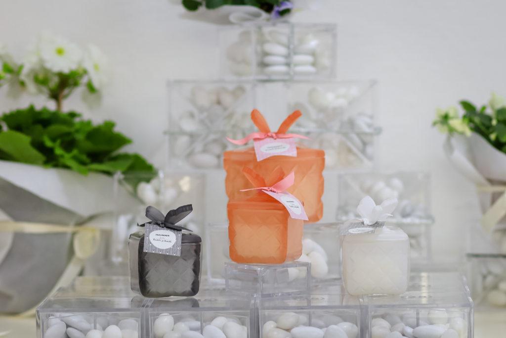 candela arancione, bomboniera Grosseto