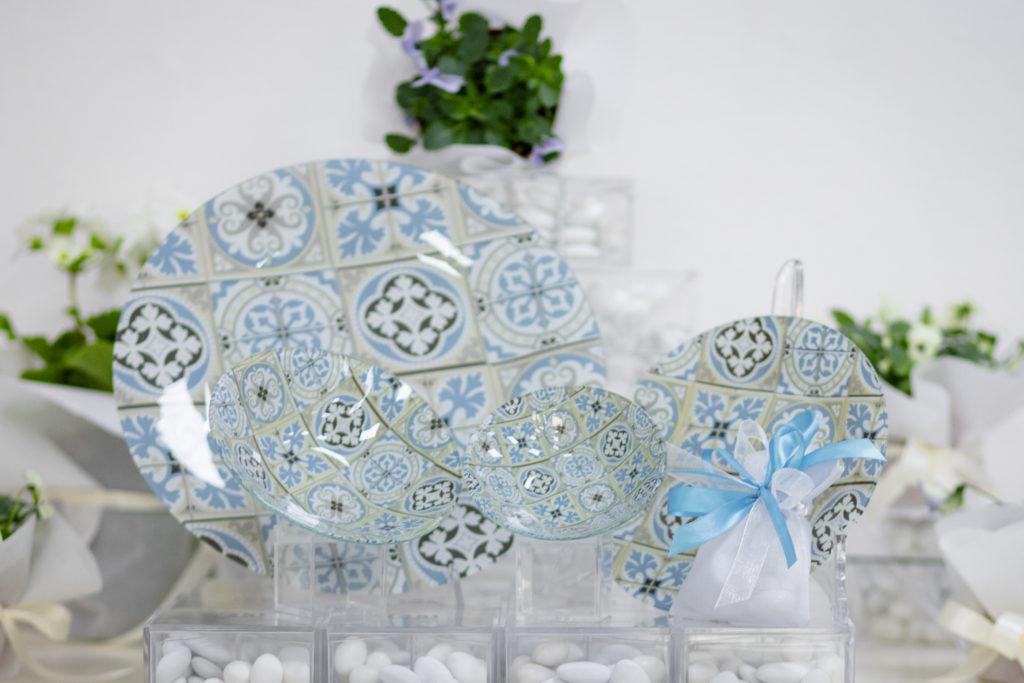 bomboniera,comunione,bomboniera,sacchetti,scatoline giorni lieti Grosseto,mosaico,azzurro