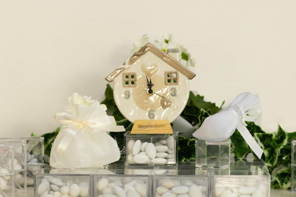 bomboniera orologio, sacchettini bianchi Grosseto giorni lieti