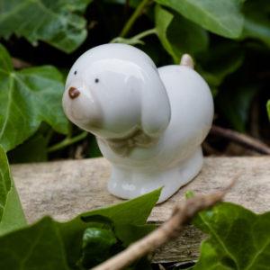 bomboniera, cane ceramica